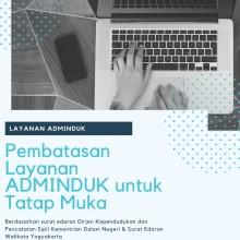 Pembatasan Layanan Tatap Muka Administrasi Kependudukan Kota Yogyakarta