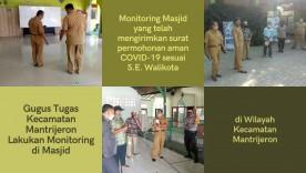 Gugus Tugas Kecamtan Mantrijeron lakukan Visitasi di Masjid