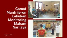 Camat Mantrijeron Lakukan Monitoring di Makam Sarilaya