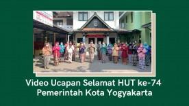 Video Ucapan HUT ke-74 Pemerintah Kota Yogyakarta