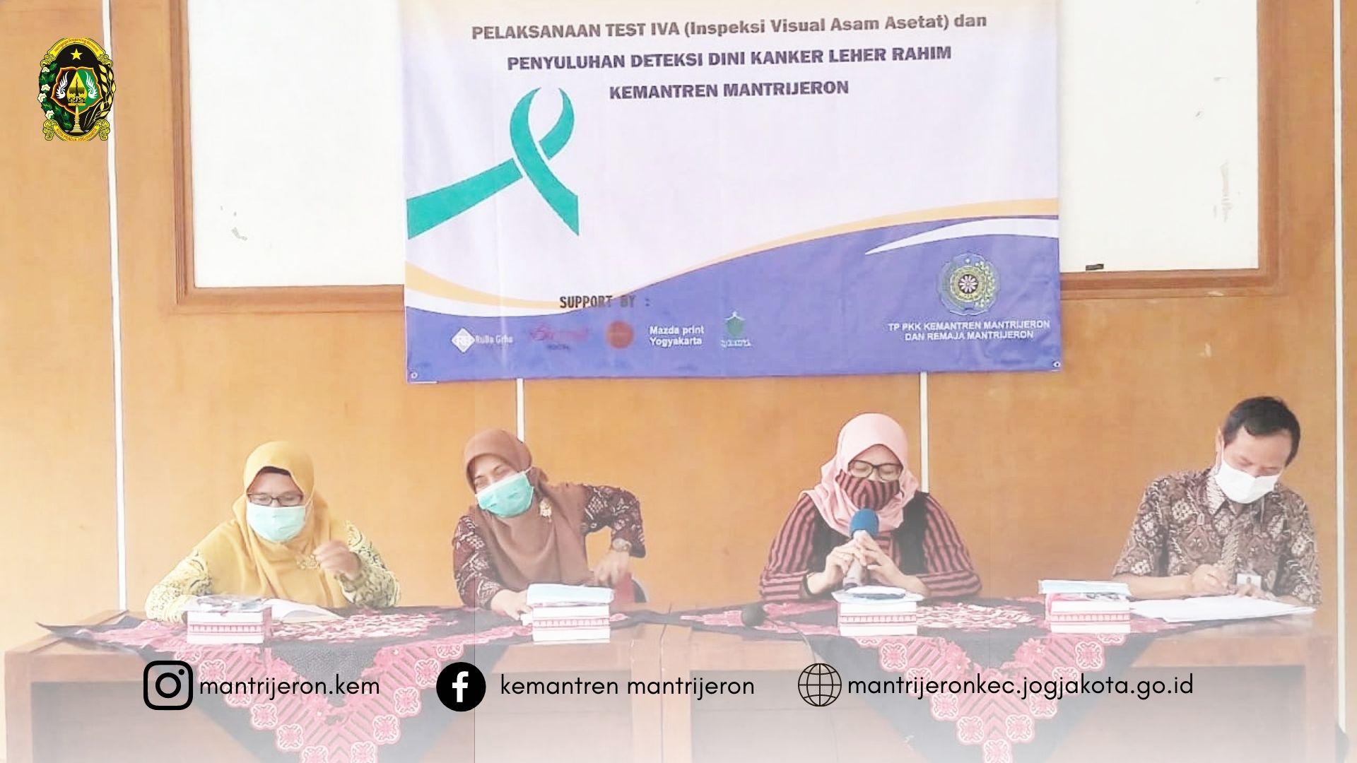 TP PKK Kemantren Mantrijeron Ajak Masyarakat lebih aware Terhadap Kanker Serviks dengan Program Pekan IVA
