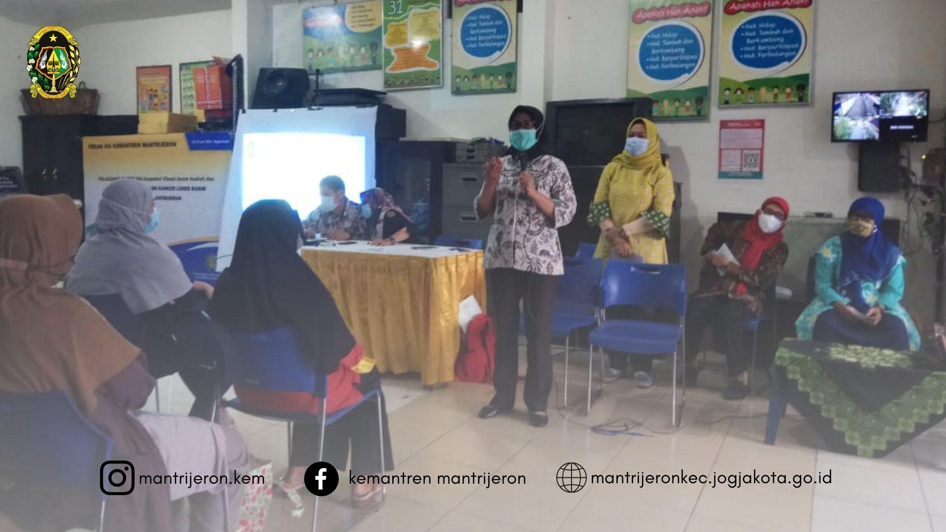 Roadshow Penyuluhan IVA di Dapur Balita RW 08 Kelurahan Mantrijeron